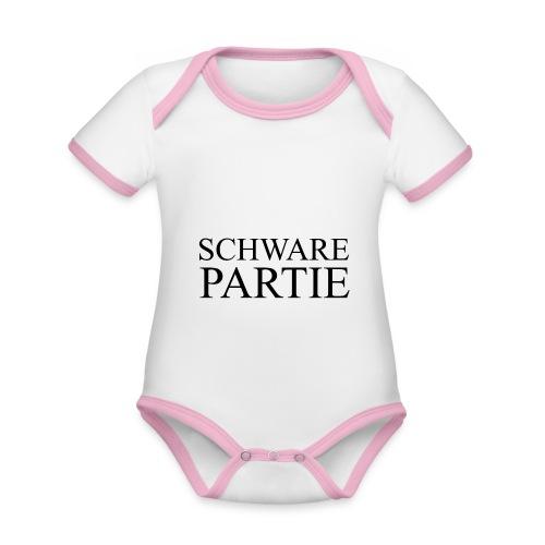 schwarePartie png - Baby Bio-Kurzarm-Kontrastbody