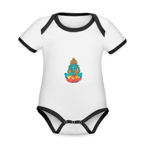 IMG_0288 2 - Ekologisk kontrastfärgad kortärmad babybody
