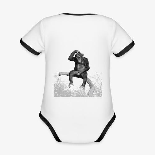 Monkey Music - Organic Baby Contrasting Bodysuit
