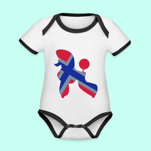 Pudel Poodle - Baby Bio-Kurzarm-Kontrastbody