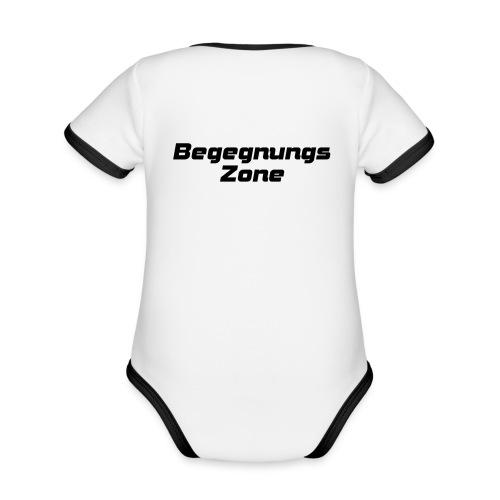 Begegnungszone - Baby Bio-Kurzarm-Kontrastbody