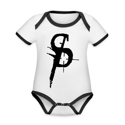 duality ps logo - Ekologisk kontrastfärgad kortärmad babybody