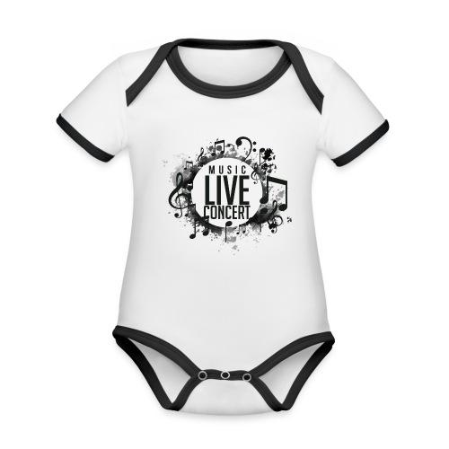 musica - Body contraste para bebé de tejido orgánico