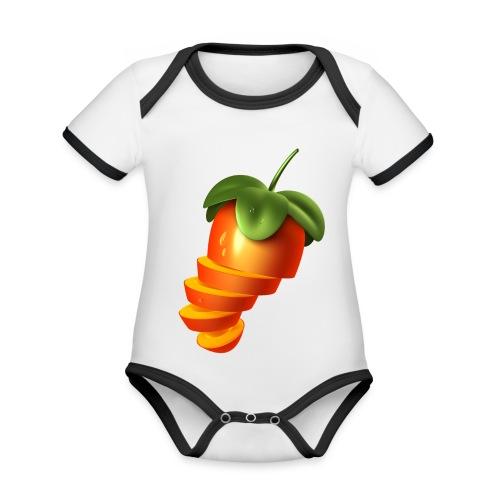 Sliced Sweaty Fruit - Organic Baby Contrasting Bodysuit