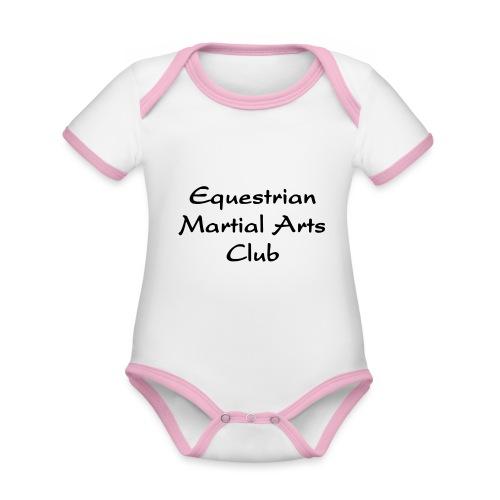 EMAC_logo_teksti - Vauvan kontrastivärinen, lyhythihainen luomu-body