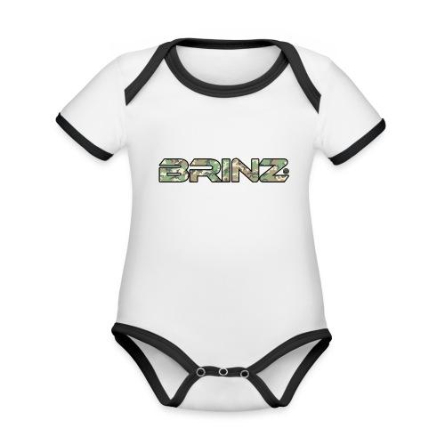 BRINZ Militare Fronte Retro - Body da neonato a manica corta, ecologico e in contrasto cromatico