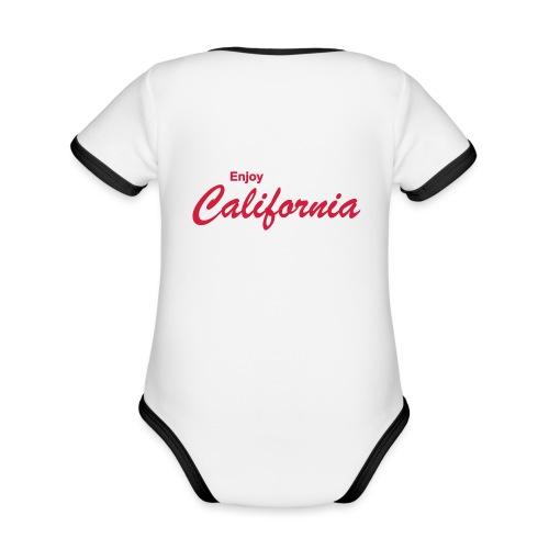 Enjoy California - Baby Bio-Kurzarm-Kontrastbody