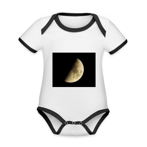 LUNA_3840X3072 - Body da neonato a manica corta, ecologico e in contrasto cromatico