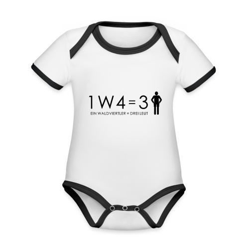 1W4 3L = Ein Waldviertler ist drei Leute - Baby Bio-Kurzarm-Kontrastbody