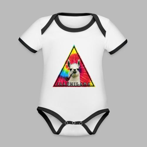 Illumilama logo T-shirt - Organic Baby Contrasting Bodysuit