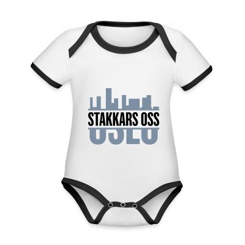 stakkars oss logo 2 ny - Økologisk kortermet kontrast-babybody