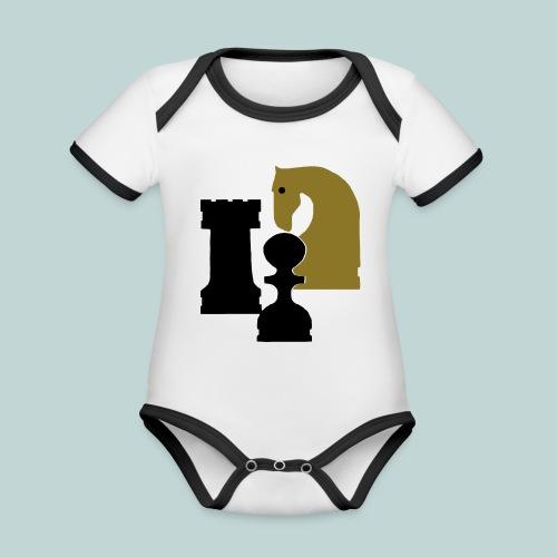 Figurenguppe1 - Baby Bio-Kurzarm-Kontrastbody