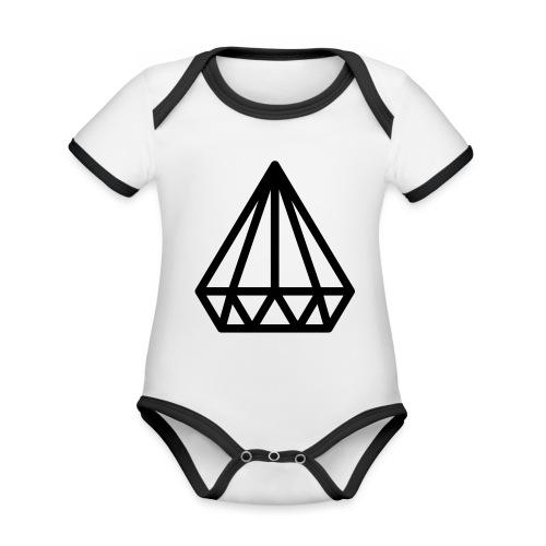 Dropchainers T-Shirt V Auschnitt - Baby Bio-Kurzarm-Kontrastbody