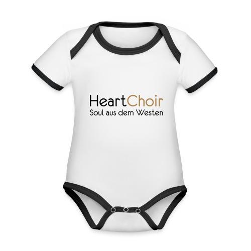 heartchoir schritzug ohne website - Baby Bio-Kurzarm-Kontrastbody