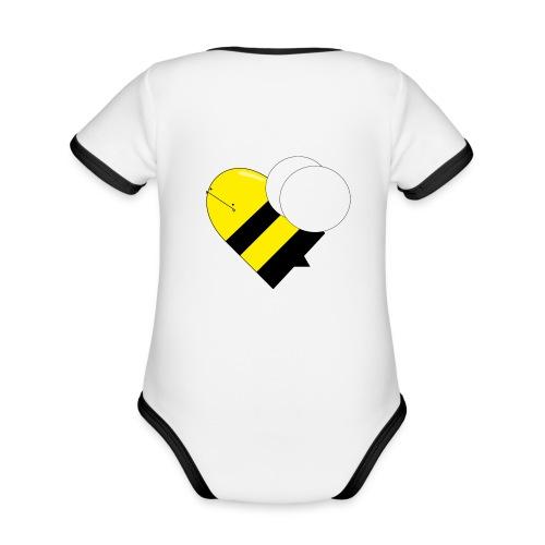 bumblebee shirts - Kortærmet økologisk babybody i kontrastfarver