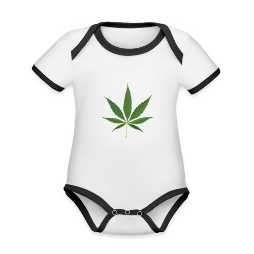 2000px-Cannabis_leaf_2 - Kortærmet økologisk babybody i kontrastfarver