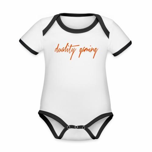 duality gamingtext - Ekologisk kontrastfärgad kortärmad babybody