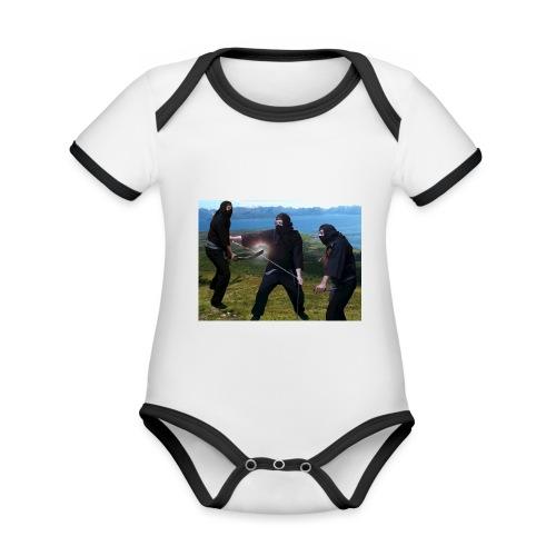 Chasvag ninja - Økologisk kortermet kontrast-babybody