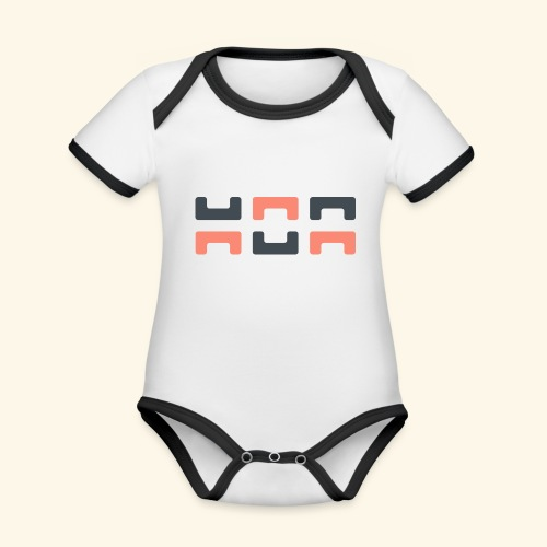 Bezier Elephant, by Hoa - Organic Baby Contrasting Bodysuit