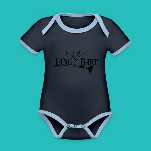 Logo-BN - Body da neonato a manica corta, ecologico e in contrasto cromatico