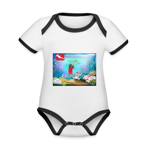 jesuis sharkie jpg - Body contraste para bebé de tejido orgánico
