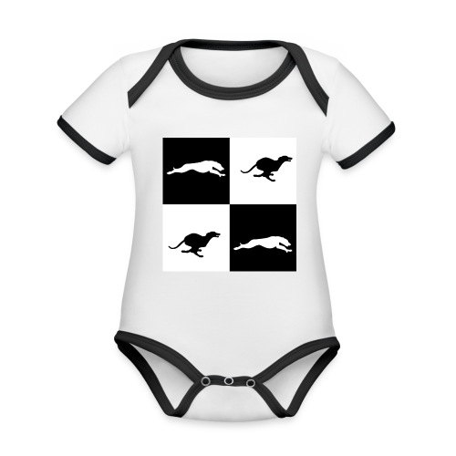 whippetsquares2 png - Organic Baby Contrasting Bodysuit