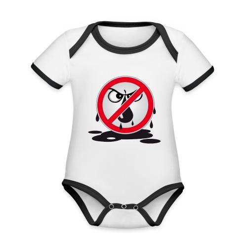 Erdöl - Nein danke! - Baby Bio-Kurzarm-Kontrastbody