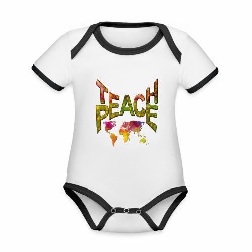 Teach Peace - Organic Baby Contrasting Bodysuit