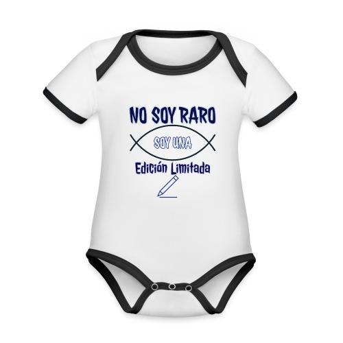Edicion limitada - Body contraste para bebé de tejido orgánico