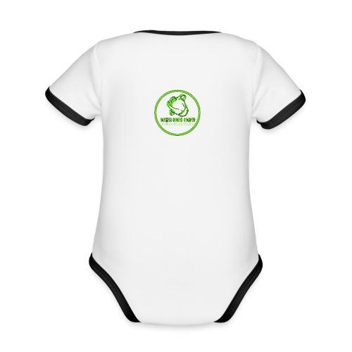 sans titre2 - Body Bébé bio contrasté manches courtes