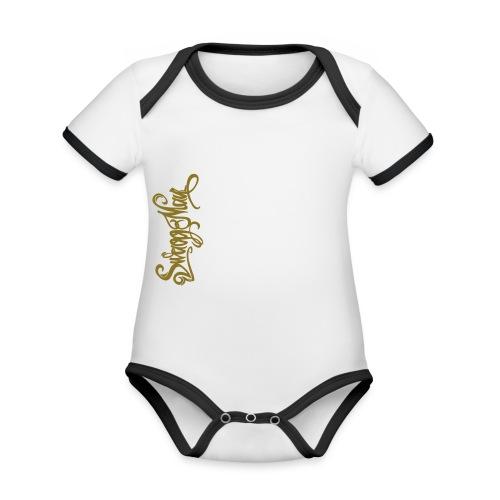 Swagg Man logo - Body Bébé bio contrasté manches courtes