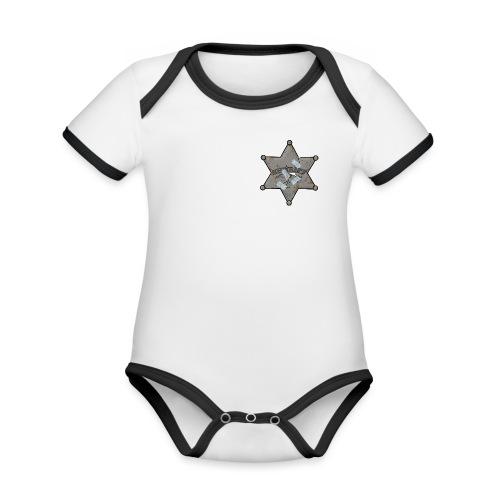 Rusty Sheriff's Badge - Organic Baby Contrasting Bodysuit