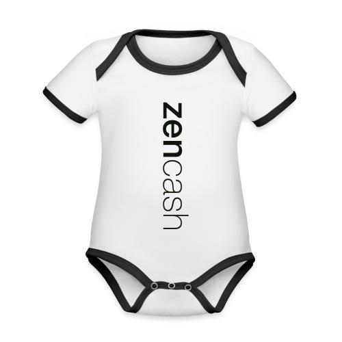 ZenCash CMYK_Horiz - Bla - Organic Baby Contrasting Bodysuit