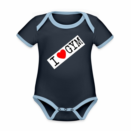 LOVE GYM - Body da neonato a manica corta, ecologico e in contrasto cromatico