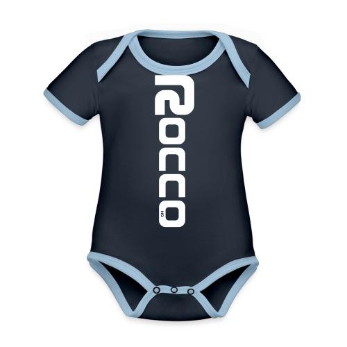ROCCO-CLASSIC - Baby Bio-Kurzarm-Kontrastbody