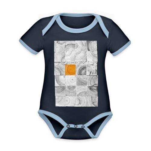Cubes de Bois - Body Bébé bio contrasté manches courtes