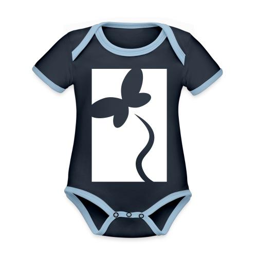 NeedRent logo - Kortærmet økologisk babybody i kontrastfarver