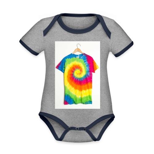 tie die small merch - Organic Baby Contrasting Bodysuit
