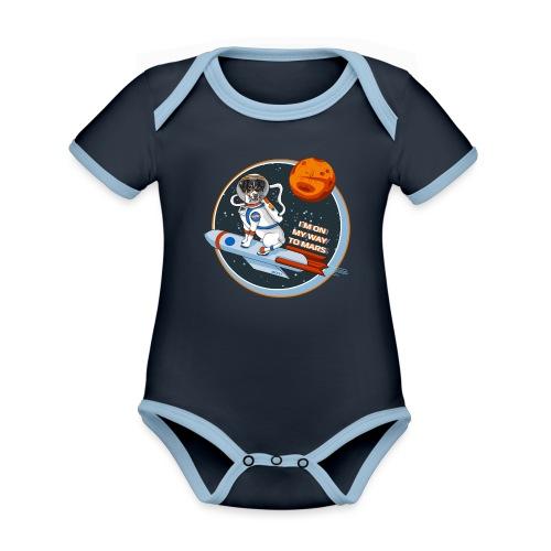 Astrodog - Baby Bio-Kurzarm-Kontrastbody