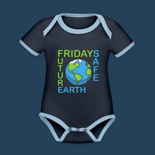 Safe Our Earth - Baby Bio-Kurzarm-Kontrastbody