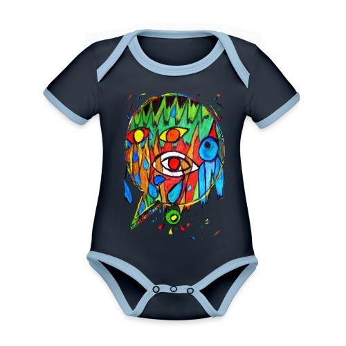 Vogel - Baby Bio-Kurzarm-Kontrastbody
