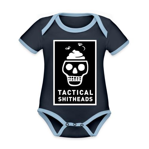 Tacshit Shitheadskull - Baby Bio-Kurzarm-Kontrastbody