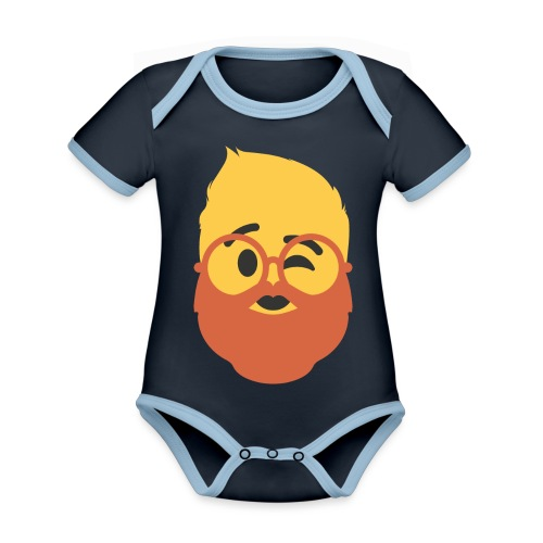 Dougsteins Wink by Dougsteins - Organic Baby Contrasting Bodysuit