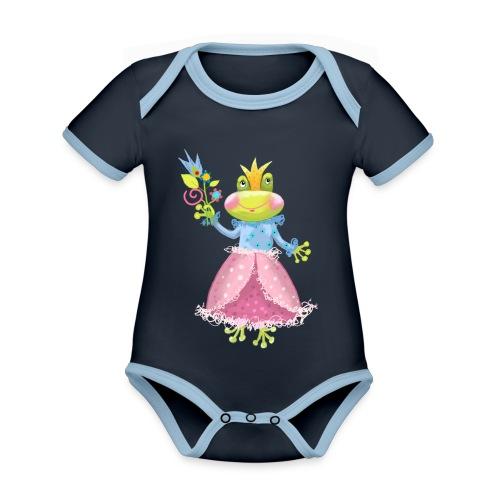 Prinzessin Frosch - Baby Bio-Kurzarm-Kontrastbody