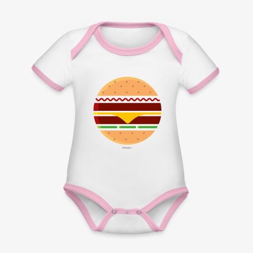 Circle Burger - Body da neonato a manica corta, ecologico e in contrasto cromatico