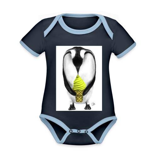 Penguin Adult - Organic Baby Contrasting Bodysuit
