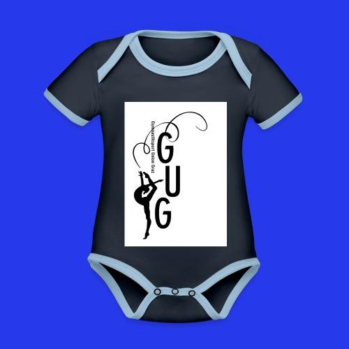 GUG logo - Baby Bio-Kurzarm-Kontrastbody