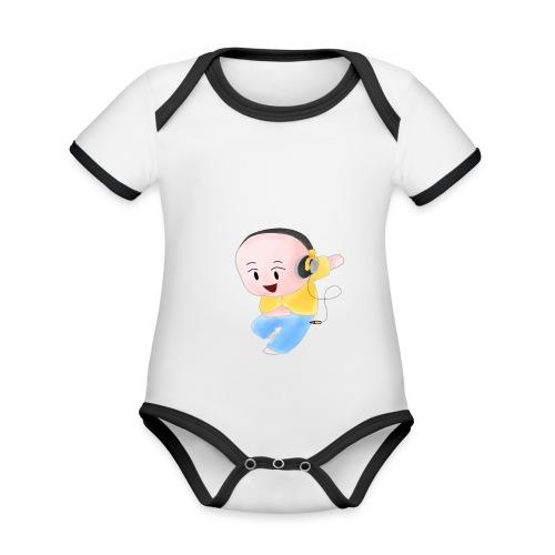 DJ ME - Body da neonato a manica corta, ecologico e in contrasto cromatico