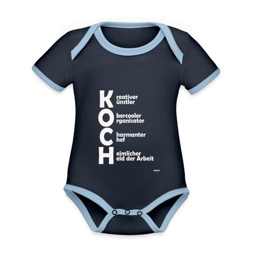 Was macht einen Koch aus? (Premium Shirt) - Baby Bio-Kurzarm-Kontrastbody