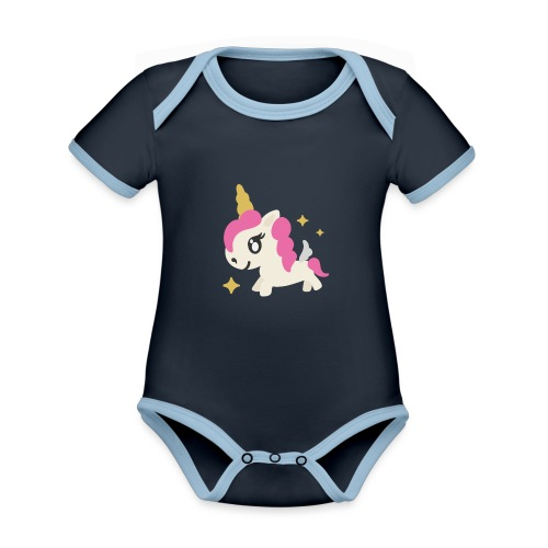 Cute unicorn png - Organic Baby Contrasting Bodysuit